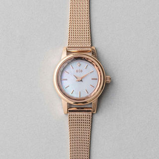ete - ソーラーメッシュベルト ダイヤモンド時計