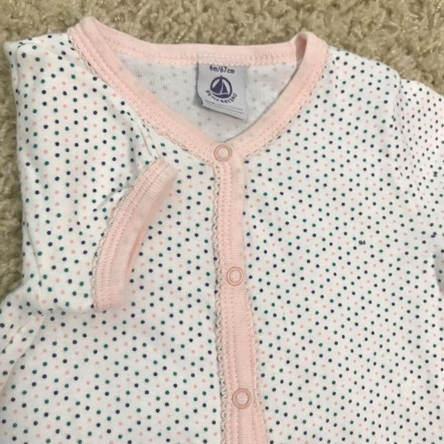 PETIT BATEAU(プチバトー)のプチバトー&べべ 女の子ロンパース サイズ70 半袖 キッズ/ベビー/マタニティのベビー服(~85cm)(ロンパース)の商品写真