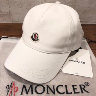 MONCLER - 新品 100%本物 MONCLER ロゴキャップ 白 モンクレール