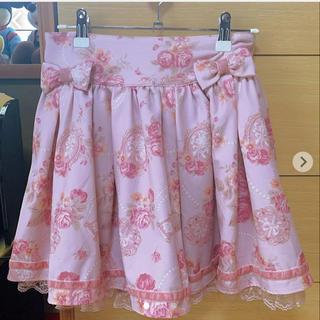 LIZ LISA - LIZLISA ダブルリボン花柄スカート(ピンク)