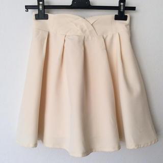 マジェスティックレゴン(MAJESTIC LEGON)のマジェスティックレゴン フレアー スカートパンツ ★ オフホワイト(ひざ丈スカート)
