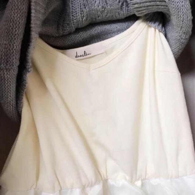 dazzlin(ダズリン)のダズリンdazzlinチュールスカート付きニットワンピース レディースのワンピース(ひざ丈ワンピース)の商品写真