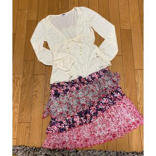 モルガン(MORGAN)のモルガン カットソー&スカート(ミニスカート)