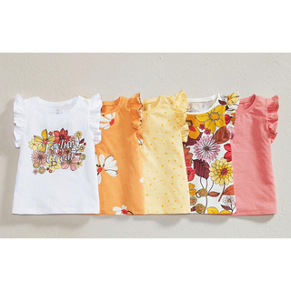 NEXT - 新品❣️ネクスト Tシャツセット オレンジフローラル