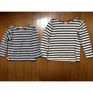 プティマイン(petit main)のpetit main ボーダーロンT 2枚セット 90 110(Tシャツ/カットソー)