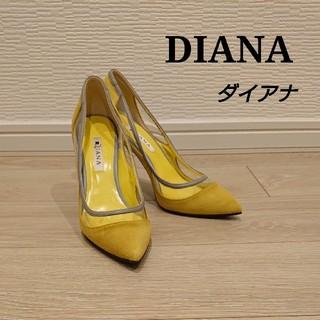 DIANA - DIANA ダイアナ パンプス 24.0㎝ スエード イエロー