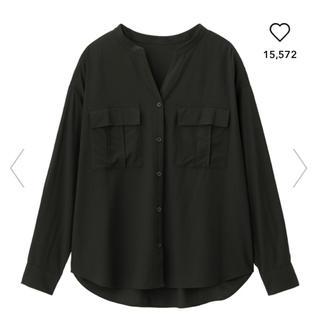GU - ブラウス シャツ ジーユー ワークスキッパーシャツ ワークシャツ スキッパー