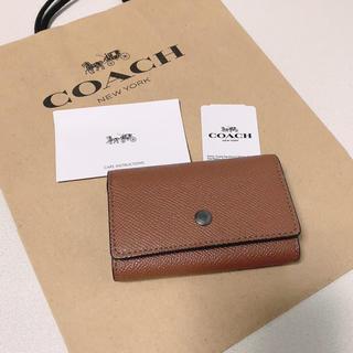 COACH - 新品 最新モデル COACH  キーケース  人気 ブラウン