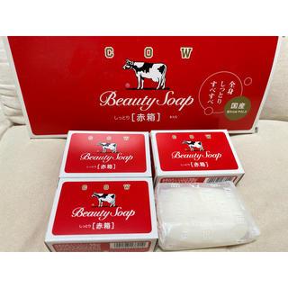 ギュウニュウセッケン(牛乳石鹸)の牛乳石鹸 カウブランド 赤箱(100g*4個)(ボディソープ/石鹸)