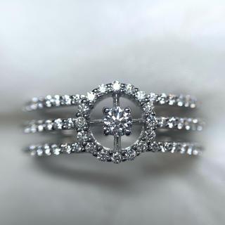 ●Leo Pijjo k18wg ダイヤモンド ファッションリング(リング(指輪))