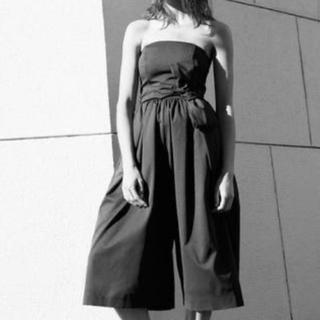 ラグナムーン(LagunaMoon)のラグナムーン ベアガウチョパンツドレス M(オールインワン)