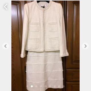 ニジュウサンク(23区)の23区 スーツ 40 ベージュ ラメ 卒業式 入学式 フォーマル 美品(スーツ)