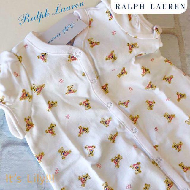 Ralph Lauren(ラルフローレン)の6m70cm 春夏 新作 ラルフローレン ロンパース ベアプリント キッズ/ベビー/マタニティのベビー服(~85cm)(ロンパース)の商品写真