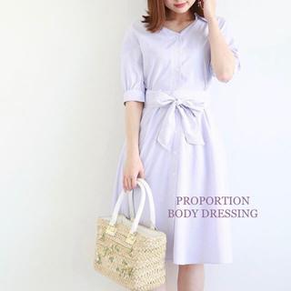PROPORTION BODY DRESSING - PROPORTION BODY DRESSING サッシュシャツワンピース