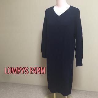 LOWRYS FARM - LOWRYS FARM♡羊毛ニットワンピース