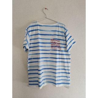 ポーター(PORTER)のポータークラシック ボーダーボートネックTシャツ(Tシャツ/カットソー(半袖/袖なし))