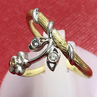 カラッチ KARATI ダイヤモンドリング サファイア k18yg k18wg (リング(指輪))