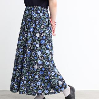 bulle de savon - yuni 花柄ロングスカート