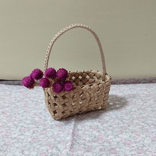石畳編みバスケット(バスケット/かご)