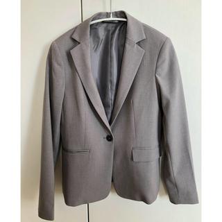 ジーユー(GU)のGU スーツジャケット グレー サイズ S(テーラードジャケット)