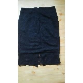 ジーユー(GU)のレースタイトスカート   Lサイズ(ひざ丈スカート)