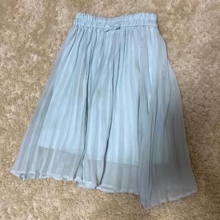 GU - gukidsミントグリーンプリーツスカート☆120センチ