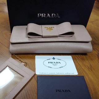 プラダ(PRADA)のプラダ PRADA 財布 レディース 長財布 パスケース付 リボン  ウォ(長財布)