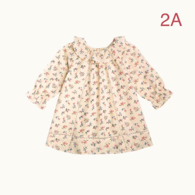 Bonpoint(ボンポワン)の新品未使用  Bonpoint  ワンピース  2A  MURE1 キッズ/ベビー/マタニティのキッズ服女の子用(90cm~)(ワンピース)の商品写真