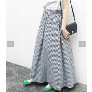 IENA SLOBE - SLOBE IENA 《WEB限定・追加》リネンギャザースカート
