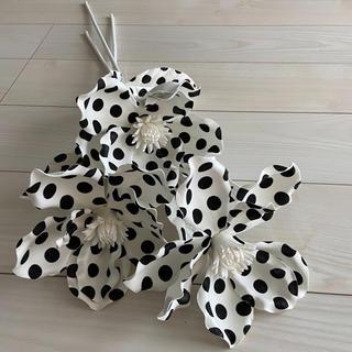 フランフラン(Francfranc)の新品 フランフラン アートフラワー マグノリア ドット 水玉 モノトーン 造花(その他)