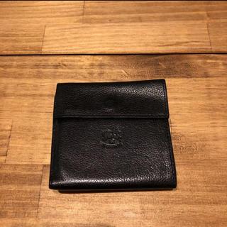 IL BISONTE - イルビゾンテ 二つ折り 財布 レザー 三つ折り ミニ財布 折財布 ブラック