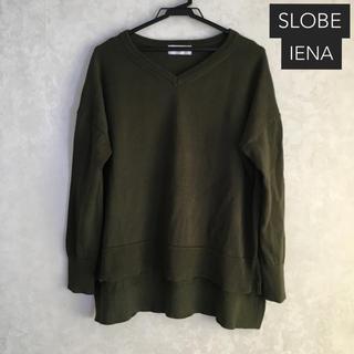 IENA SLOBE - SLOBE IENA スローブイエナ リネン混 長袖 ニット プルオーバー