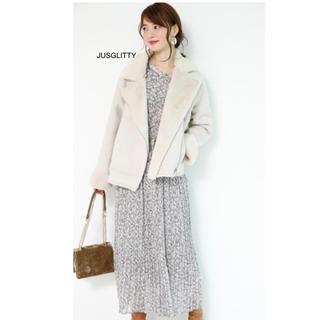 JUSGLITTY - JUSGLITTY ☆ グラデフラワープリント ワンピース
