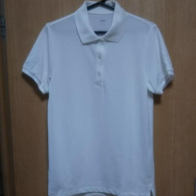 UNIQLO(ユニクロ)のUNIQLO  新品  白ポロシャツ レディースのトップス(ポロシャツ)の商品写真