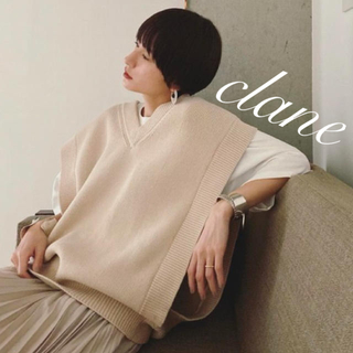 STUDIOUS - clane クラネ ダブルフェイス ニットベスト ♡2020ss♡