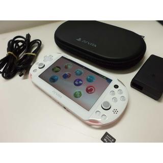 PlayStation Vita - PSVITA  2000 Light Pink/White美と16GBメモカ