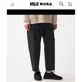 MUJI (無印良品) - MUJILabo 綿混撥水ワイドパンツ 黒 クロップド丈