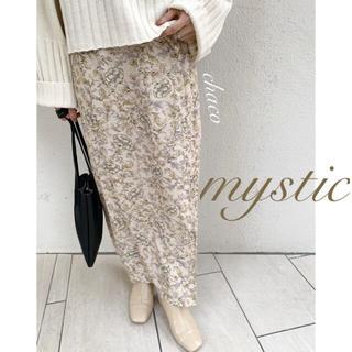 mystic - 新作¥7150【mystic】ドット花柄ラップスカート  ロングスカート