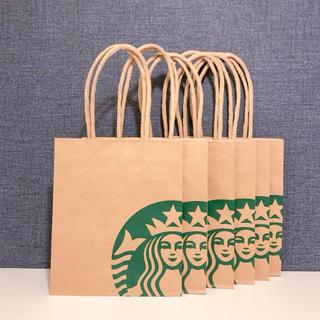 Starbucks Coffee - スターバックス ショップ袋 6枚 ショッパー 紙袋 サイレンロゴ 紙バッグ