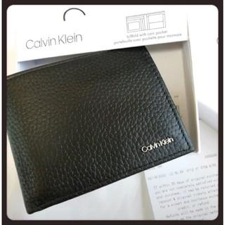 Calvin Klein - ○【Calvin Klein】最新作・二つ折りレザー財布・コイン入れ付