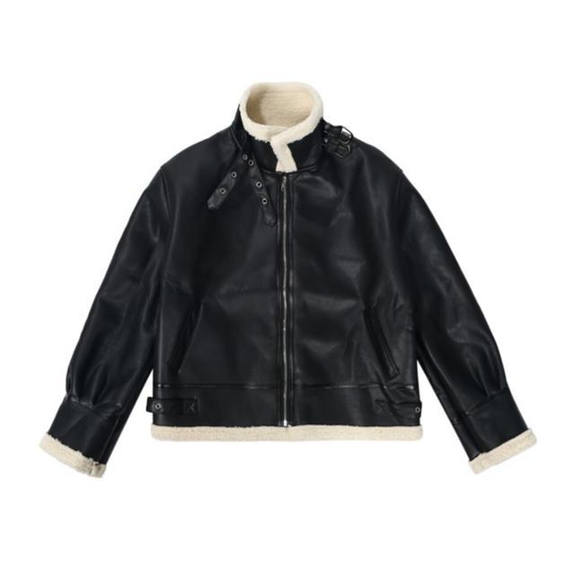 ZARA(ザラ)のボアレザージャケット メンズのジャケット/アウター(レザージャケット)の商品写真
