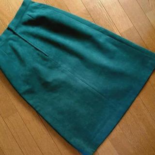 ロンシャン(LONGCHAMP)の(着画あり)LONGCHAMP スエードレトロボックススカート(ひざ丈スカート)