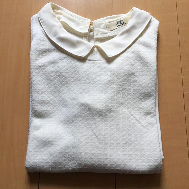 ikka(イッカ)の美品!襟付きトップス、ワッフル素材フォーマルトップス レディースのトップス(カットソー(長袖/七分))の商品写真