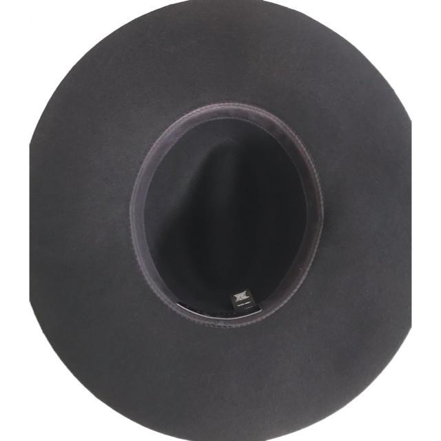 DEUXIEME CLASSE(ドゥーズィエムクラス)のJanessa Leone フェルトプレートハット 《ブラック×ゴールド》 レディースの帽子(ハット)の商品写真