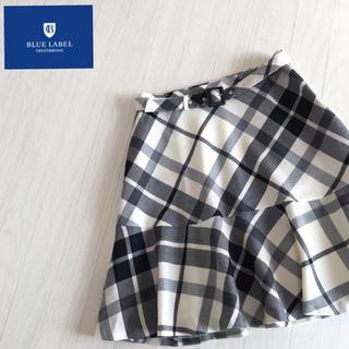 美品☆ブルーレーベルクレストブリッジ チェック柄 スカート 36サイズ