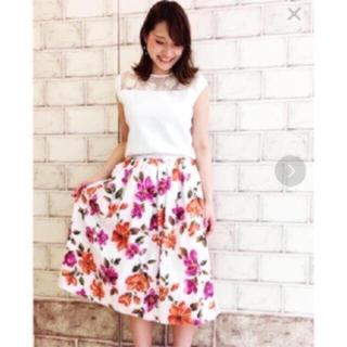 トランテアンソンドゥモード(31 Sons de mode)の31sons de mode❁花柄リゾート風ロングスカート(ロングスカート)