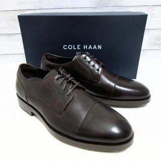 コールハーン(Cole Haan)の新品 コールハーン ビジネスシューズ ストレートチップ 革靴 濃茶 25.5(ドレス/ビジネス)