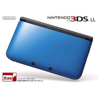ニンテンドー3DS - ニンテンドー3DS LL ブルー ブラック 本体 SD タッチペン 青