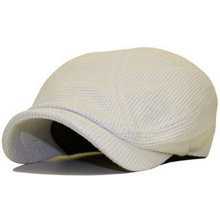 大きいサイズ 帽子 メンズ帽子 ハンチング ワッフル アイボリー
