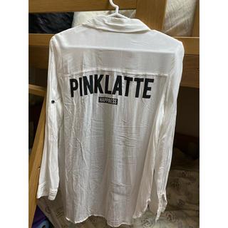 ピンクラテ(PINK-latte)の送料無料♪ピンクラテ白シャツ(シャツ/ブラウス(長袖/七分))
